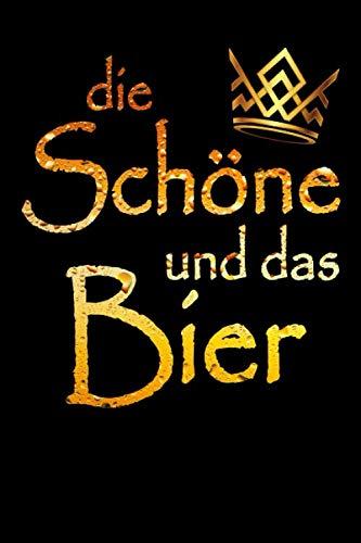 Bier Notizbuch Die Schöne Und Das Bier: Dot Grid Journal oder Notizbuch (6x9 Zoll) mit 120 Seiten