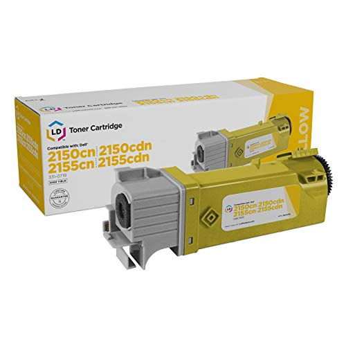 LD Compatible Toner Cartridge Replacement for Dell 331-0718 D6FXJ High Yield (Yellow)