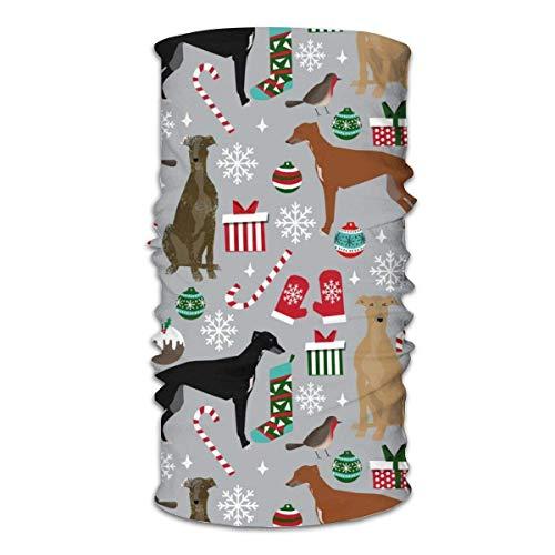 shenhaimojing Paño De Manguera Polaina para Cuello Mágica Cinta para La Cabeza Diademas para Exteriores Envoltura De La Cabeza,Galgo Perros Navidad Perro Lindo Perro Navidad