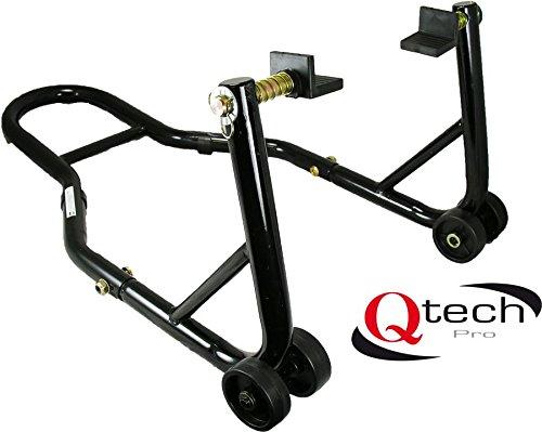 Qtech Motorfiets achterwiel montagestandaard universele pasvorm met L-adapters voor de schommelingen 200 kg hefcapaciteit track stuurkop krik garage