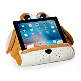 Cuddly Reader iPad Stand, Tablet Stand and Book Holder, Reading Pillow for Kids Children, Reading in Bed Travel, Soft Cushion Pillow, Gift eReader/Kindle/Smartphone Compatible (Puppy Pete)