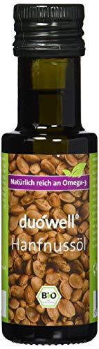 duówell Hanfnussöl Bio Hanföl kaltgepresst, nativ, Omega-3 reich, 2er Pack (2 x 100 ml)