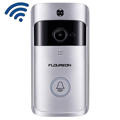FLOUREON Video Campanello Senza Fili WiFi, 720P HD Wireless Videocamera,Audio Bidirezionale, Visione Notturna, Rilevamento di Movimento PIR, Video in Tempo Reale, Controllo app Android e iOS