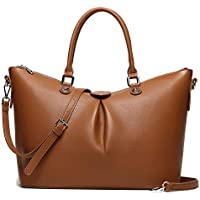 Cow Staunch Women 15.6inch Leather Business Office Travel Handbag