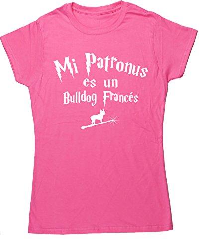 Hippowarehouse Mi Patronus es un Bulldog Francés Camiseta Manga Corta Ajustada...