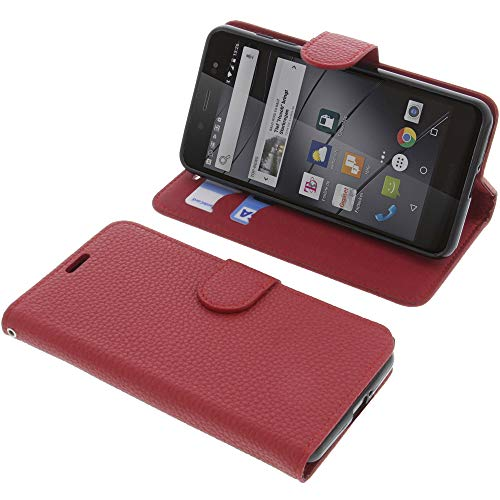 foto-kontor Tasche für Gigaset GS180 Book Style rot Schutz Hülle Buch