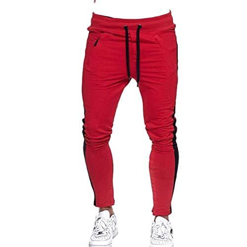 Generic Herren Sporthose Herbst und Winter Lässige Farbabstimmung Design Fitness Sporthose Large