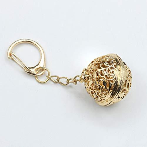 SeniorMar-UK Blume Tausend-Knochen-Palast Glocke Zubehör Schlüsselbund Legierung Durchbrochene Verzierung