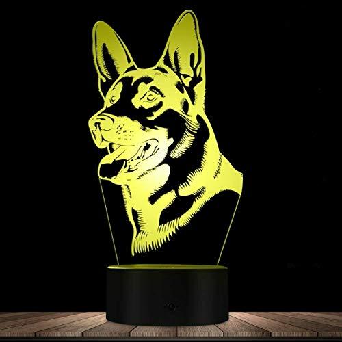 HGFHGD Lámpara de Mesa táctil USB con luz de Noche LED 3D,...