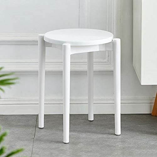 Nileco Stapelbare barkruk, rugvrije stoelen, barkruk, ronde stoelen, kunststof barkruk voor eetzaal, keuken, terras en tuin