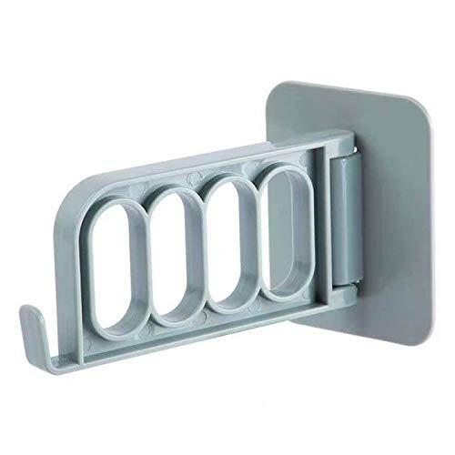 Selbstklebend Haken 5pcs Hook Up Schlafzimmer Tür Küchentür Hook Up Five-Link Hanging Rack Lagerung Dual Hanger Hook Cap Holder Küche Bad Kleiderbügel