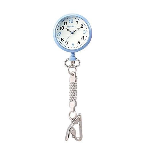 『ナースリー NEWハピプラ蓄光ナースウォッチ 逆さ文字盤 医療 看護 ナース 時計 【全13色】 アイスブルー 1085268A』の1枚目の画像