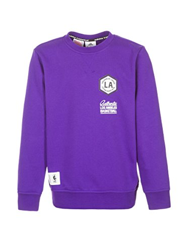 adidas Sudadera Los Angeles Lakers Washed Crew Morado 10 años (140 cm)