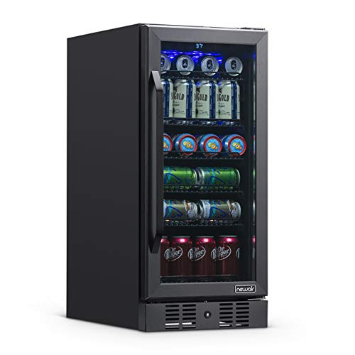 NewAir NBC096BS00 Beverage Fridge, 96 Can, Black