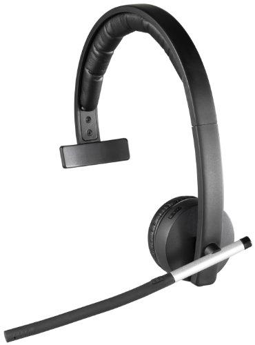 Logitech Wireless Headset H820e Single-Ear Mono Business Headset - Black