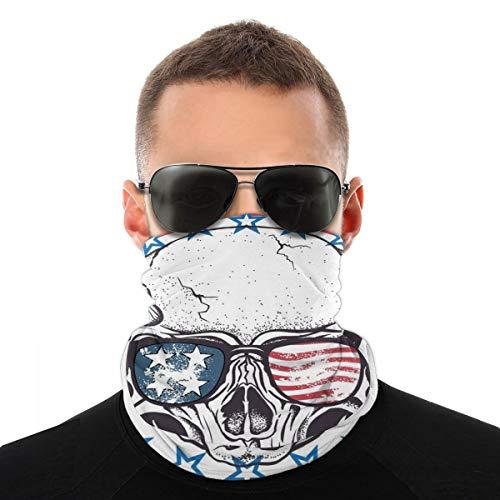 Math Theory - Toalla de cara con fórmula matemática para hombres y mujeres, deportes al aire libre, resistente al viento, transpirable, variedad, color Bandera estadounidense Skull1, tamaño talla única