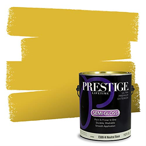 Prestige Paints Exterior Paint and Primer In One, 1-Gallon, Semi-Gloss, Comparable Match of Sherwin Williams* Eye Catching*