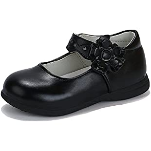 Customer reviews CCZZ Girls Mary Jane Shoes Sweet Flower Decor Leather Party Princess Dress Shoes Soft Soles Shoes(Toddler/Little Kid):Thecricketmaster