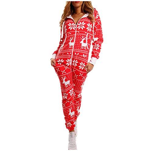 Allegorly Jumpsuit Strampler Ganzkörperanzug Overall Sternen Kuschelig Warm Damen Jumpsuit Overall Einteiler Pyjama Schlafanzug Trainingsanzug Ganzkörperanzug Hausanzug Mit Kapuze & Reißverschluss