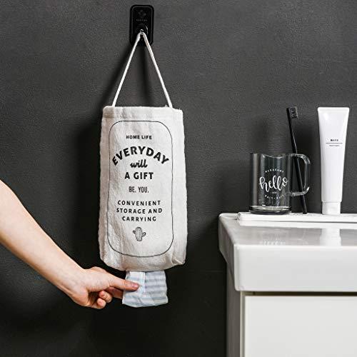 m·kvfa Garbage Bag Storage Bag Double-Portable Kitchen Wall-Mounted Debris Storage Box for Bathroom Kitchen
