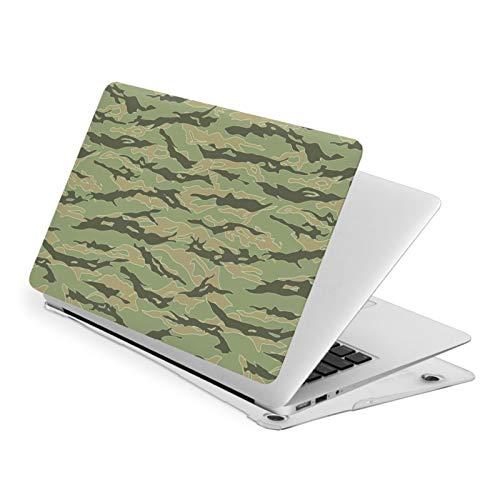 Tiger Stripe Camouflage MacBook Air 13 inch Case Release A1932 Cute Hard Shell Cover for New Version Mac Air 13