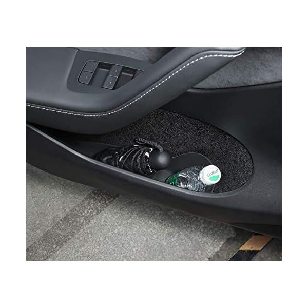 topfit for tesla model y door side storage box door handle car door organizer tray protector (rubber)model y accessories…