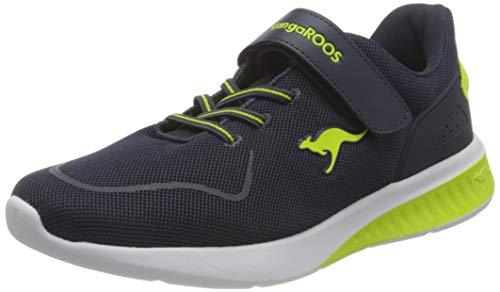 KangaROOS Herren KL-Bare EV Sneaker, Dark Navy/Lime 4054, 38 EU