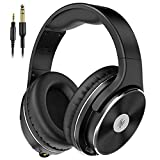 OneOdio Hi-Res Over Ear Headphones Wired, 50mm Speaker, 1/4 inch 6.35mm Jack Adapter Free Closed-Back Studio Headphones for DJ Electric Drum Keyboard Guitar Amp PC iPad Recording Monitoring(2021 New)