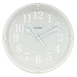 Casio Iq-62-8 Wall Clock with 10 Inches Thinline Quartz Light Gray Dial Battery Included