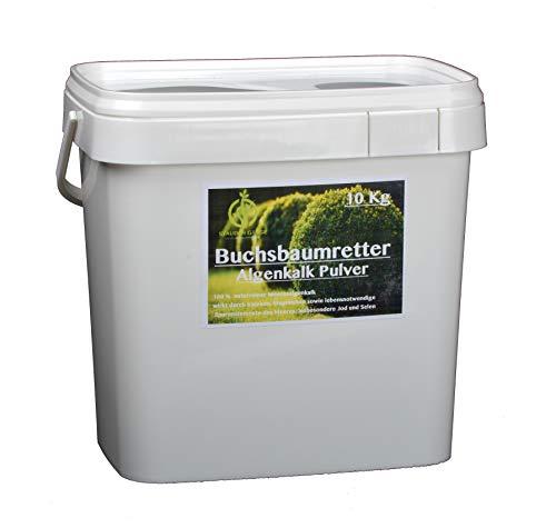 Stauden Gänge 10 kg Algenkalk Pulver im Eimer/Buchsbaumretter/Das Original/mit Anleitung/Buchsbaum Kur/Buchsbaumdünger