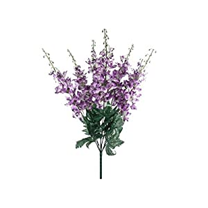 Purple Delphinium Bush Artificial Flowers 22″ Bouquet -Artificial Plants & Flowers-Artificial Flowers–Wedding Decorations-Flowers-Poinsettia Flowers Artificial-Flower Wall