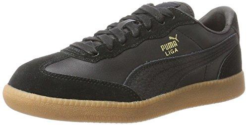 PUMA Liga Leather, Scarpe da Ginnastica Basse Unisex-Adulto, Nero Black Black, 42 EU