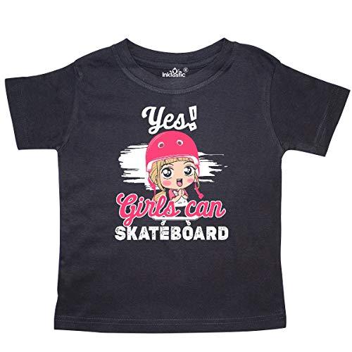 inktastic Skateboarding Cute Girls Toddler T-Shirt 2T Black 3e208