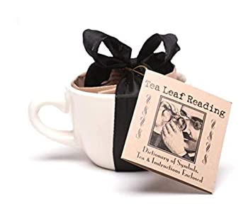 Tea Leaf Reading Kit with Tea Cup Instructions and Loose Leaf Tea