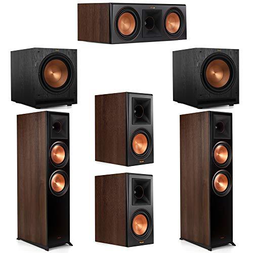 Best Prices! Klipsch 5.2 Walnut System 2 RP-8000F Floorstanding Speakers, 1 Klipsch RP-600C Center S...