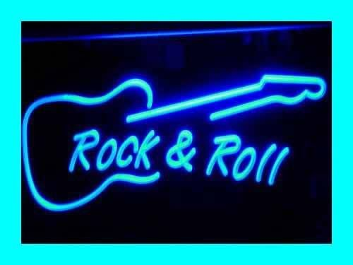 Lichtfluter i303-b Rock and Roll Neon Light sign Barlicht Lichtwerbung Neonlicht