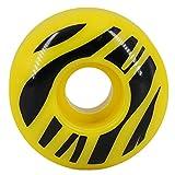 FREEDARE Skateboard Wheels 52mm 98a Longboard Wheels (Yellow,4PCS)