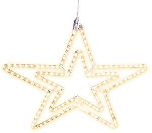 "Best Season LED-Ropelight-Silhouette ""Stern""koppelbar, 144 warmweiß LED, circa Durchmesser 75 cm, Outdoor, Karton 800-72"