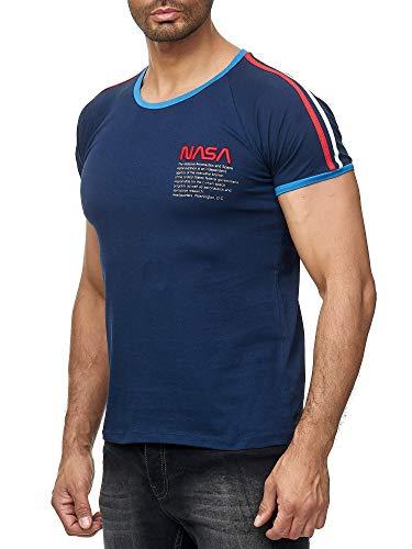 Red Bridge M1301 T-shirt à col rond pour homme avec logo NASA - Bleu - XX-Large