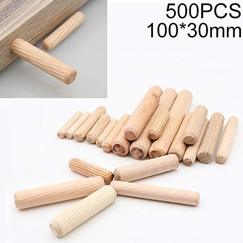 Holzdübe, 500 PCS Eukalyptus Runddübel Tie Anschluss- Stecker, Größe: 100x30mm, holzdübel set