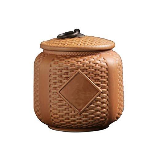 Regalo La cremación urna urnas Adultos Niños urnas for mascotas sellado contra la humedad de la arena púrpura bambú material de época latas selladas a prueba de agua y resistente a la oxidación artesa