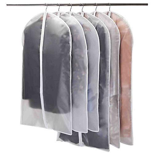 Niviy Cubiertas de la Ropa Protectores Claros de la Cremallera para Los Juegos de la Camisa/Capas,Transpirable Fundas de Vestido,3pcs los 60 * 100cm,3pcs los 60 * 120cm