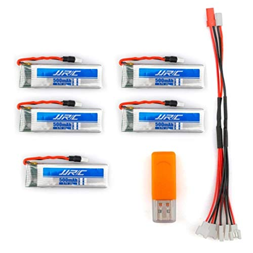 Find Bargain Part & Accessories EBOYU(TM) 5PCS Original JJR/C 3.7V 500mAh 20C Li-Polymer Battery for...