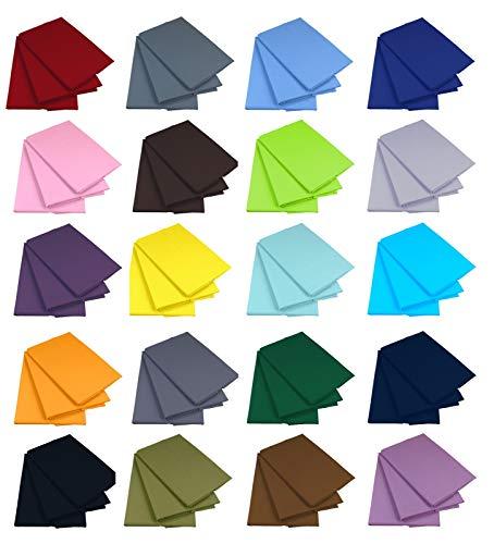 Klassische Bettlaken Betttuch Haustuch Laken 100% Baumwolle ohne Gummizug viele Farben und Größen (Blau, 200 x 220 cm)