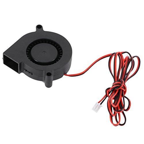 UEETEK 5015 DC 24V 0.18A Ventola per stampante 3D, Ventola per radiatore a turbina, Eccellente per raffreddamento Dissipatore di calore su Hot End, Accessorio stampante 3D, Nero