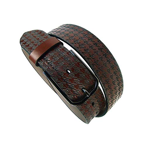 Leyva - Cinturón de hombre piel en color marrón (95 cm)