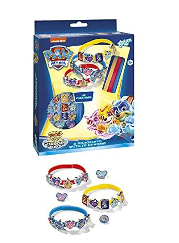 PAW PATROL 720633 Bastelset – Gestalte farbige Armbänder mit 18 coolen Charms mit Motiven deiner Lieblingshelden, Multicolor
