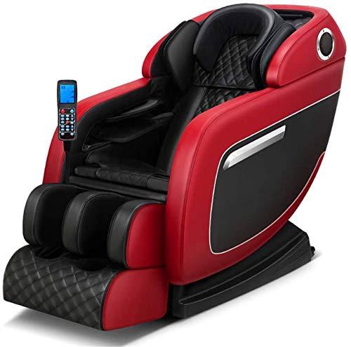 Sillón de masaje Masaje Masaje de la silla, la gravedad cero de cuerpo completo eléctrico de masaje Shiatsu sillón reclinable con una función de Calor Terapia rodillo del pie estiramiento vibrante Alt