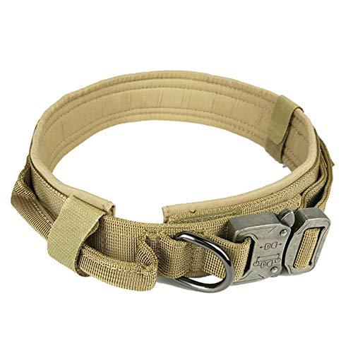 Tactical Dog Collar, Nylon Adjustable k9 Military Training Collars ,Heavy Duty Metal Buckle with Handle Control