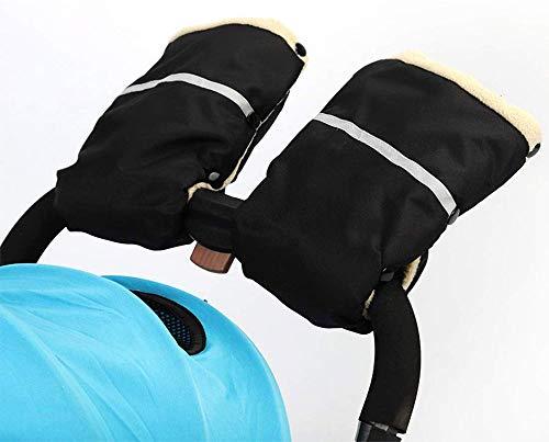 MIAOZHANG Kinderwagen Handwärmer Handschuhe, Fleece und Baumwolle Innenseite Wasserdicht und Winddicht Stroller Handmuff Universalgröße für Kinderwagen, Buggy, Radanhänger,Beige